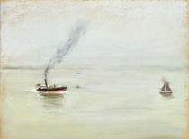 Rainy Weather on the Elbe by Max Liebermann