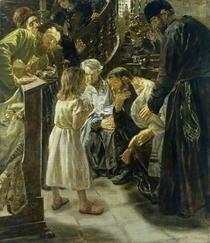 Zwöljähriger Jesus im Tempel von Max Liebermann