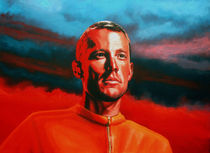 Lance Armstrong painting by Paul Meijering