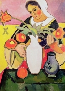 The Lute Player by August Macke