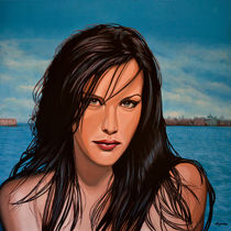 Liv Tyler painting by Paul Meijering