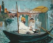 Monet in seinem schwimmenden Studio von Edouard Manet