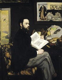 Portrait of Emile Zola  by Edouard Manet