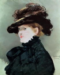 Portrait of Mery Laurent by Edouard Manet
