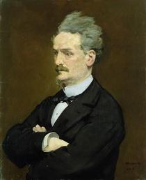 Der Journalist Henri Rochefort von Edouard Manet