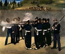Die Hinrichtung Kaiser Maximilians von Edouard Manet