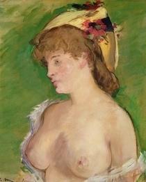 Blonde mit entblößten Brüsten von Edouard Manet