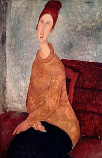 Jeanne Hebuterne in einem gelben Pullover von Amedeo Modigliani