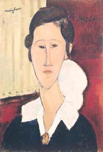 Portrait of Madame Hanka Zborowska by Amedeo Modigliani