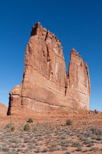 Courthouse Towers At Arches National Park by John Bailey