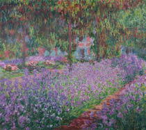 The Artist`s Garden at Giverny by Claude Monet