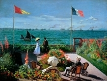 The Terrace at Sainte-Adresse by Claude Monet
