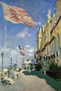 The Hotel des Roches Noires at Trouville by Claude Monet