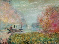 The Boat Studio on the Seine by Claude Monet