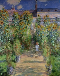 The Artist`s Garden at Vetheuil by Claude Monet