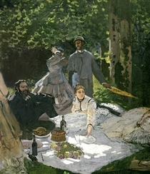 Dejeuner sur l`Herbe, Chailly by Claude Monet