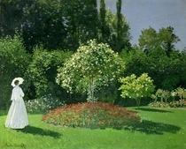 Woman in a Garden by Claude Monet