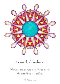 Council of Twelve Mandala #1 w/msg by themandalalady