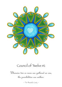 Council of Twelve Mandala #2 w/msg by themandalalady