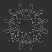 Council of Twelve Mandala - white design von themandalalady