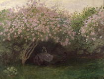 Lilacs, Grey Weather by Claude Monet
