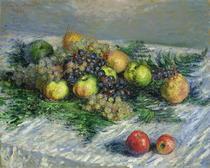 Stillleben mit Birnen und Trauben von Claude Monet