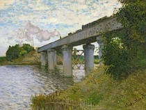 The Railway Bridge at Argenteuil by Claude Monet