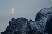 Moon on the Paine Mountain Range I by Víctor Suárez