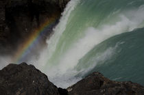 Rainbow over the Salto Grande waterfall I von Víctor Suárez
