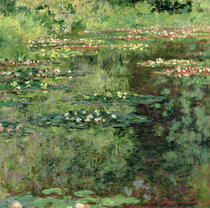 The Waterlily Pond by Claude Monet