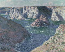 The Rocks of Belle Ile by Claude Monet