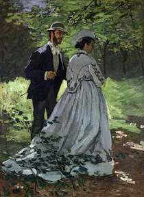 The Promenaders, or Bazille and Camille by Claude Monet