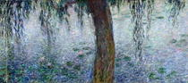 Waterlilies: Morning with Weeping Willows, detail of the right s by Claude Monet