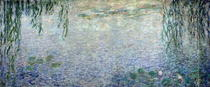 Waterlilies: Morning with Weeping Willows, detail of the central by Claude Monet