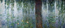 Waterlilies: Morning with Weeping Willows, detail of the left se by Claude Monet