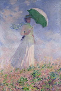 Woman with a Parasol turned to the Right by Claude Monet