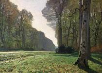 Die Straße nach Bas-Breau, (Le Pave de Chailly) von Claude Monet