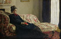 Meditation, Madame Monet auf dem Sofa von Claude Monet
