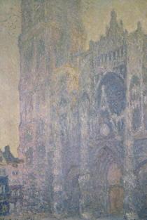 Die Kathedrale von Rouen von Claude Monet