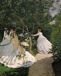 Frau im Garten von Claude Monet