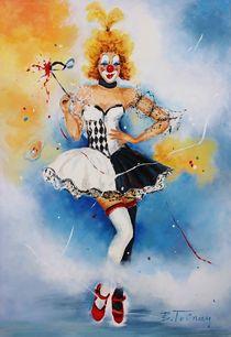 Clownmädchen Lizzy von Barbara Tolnay