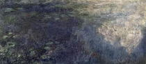 Waterlilies - The Clouds (left section) by Claude Monet