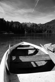 Boat on alpine lake von Falko Follert