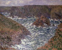 Port Domois at Belle Ile by Claude Monet