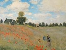 Wild Poppies, near Argenteuil (Les Coquelicots: environs d`Argen by Claude Monet