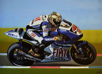 Jorge Lorenzo painting by Paul Meijering