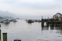 Foggy Fishing Village von John Bailey