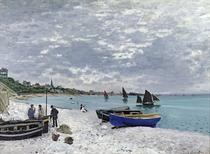 Der Strand von Saint-Adresse von Claude Monet