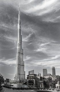 silver shiny burj khalifa by Ahmed Rashed