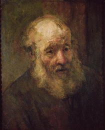 Head of an Old Man by Rembrandt Harmenszoon van Rijn
